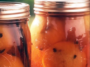 Thank you to The Food Network for this beautiful example of spiced pickled peaches